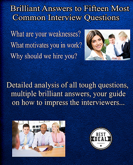 15 Most Common Interview Questions and Answers - eBook cover